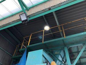 愛知県飛島村にてコンセント増設及び水銀灯LED取替電気工事
