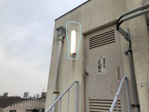 名古屋市中村区にて屋外照明器具LED電気工事