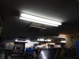 愛知県一宮市の飲食店にて蛍光灯からLED照明器具へ切替電気工事
