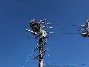 高圧電気~名古屋市港区の公共施設にてSOG(高圧気中開閉器)の取替電気工事