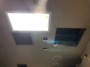名古屋市港区の店舗様事務所においてダウンライト増設電気工事