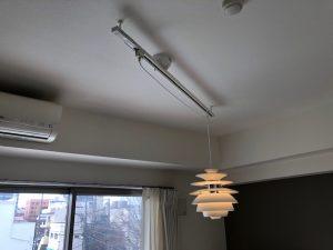 名古屋市東区のマンションにてインテリアダクト及びルイスポールセンのスノーボール取付電気工事