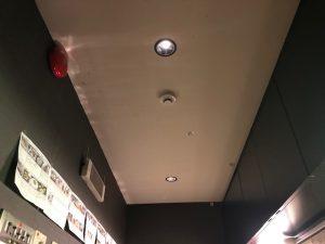 名古屋市中村区の飲食店様にてLEDダウンライト取替電気工事