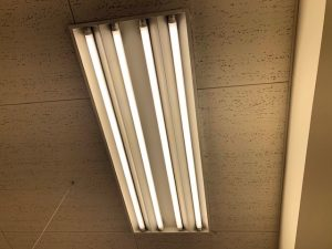 名古屋市北区のスーパーマーケットにて照明器具の改修電気工事