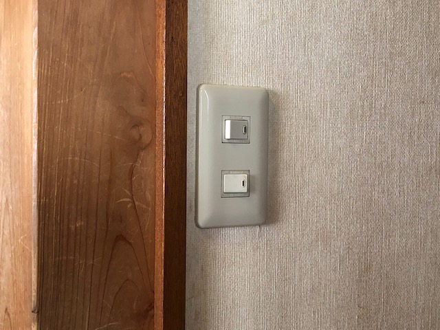 名古屋市名東区の戸建住宅にて片切スイッチから「あけたらタイマ」スイッチへ取替電気工事