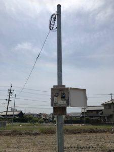 名古屋市港区にて臨時用電源コンセント設置及び臨時電灯申請電気工事