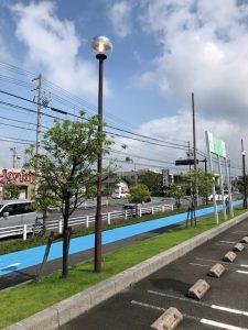 愛知県安城市の商業施設にて駐車場街路灯をLED電気工事