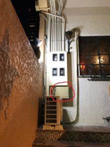 名古屋市名東区のテナントビルにてエアコン用電源配線電気工事