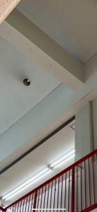 愛知県大治町の商業施設にて高天井ダウンライトのランプ取替電気工事