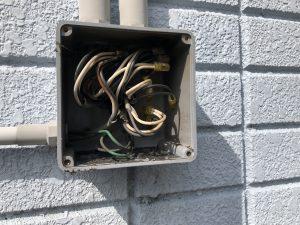 名古屋市北区の戸建住宅にてエアコンの復旧電気工事
