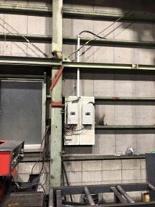 名古屋市港区の工場にてケースブレーカ(手元開閉器)の移設電気工事
