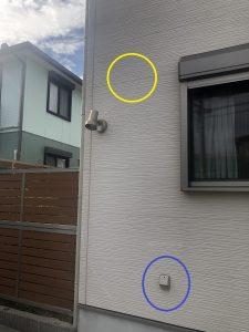 名古屋市緑区の戸建住宅にて防犯カメラの取付電気工事