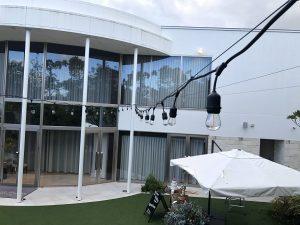 愛知県豊田市の結婚式場にてLED提灯の取付電気工事