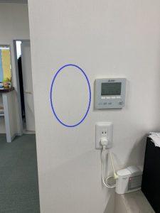 名古屋市港区のオフィスにて殺菌灯(空気循環式紫外線清浄機)の取付電気工事
