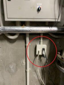 三重県桑名市の工場にてコンセントの移設電気工事