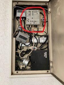 名古屋市西区のマンションにて共同受信用ブースターの取替電気工事