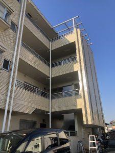 名古屋市天白区のマンションにて共用部照明器具をLED照明器具へ取替電気工事