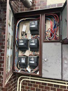 名古屋市千種区のマンションにて引込開閉器の取替電気工事