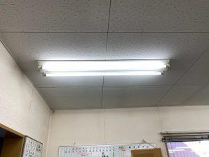 名古屋市港区の倉庫事務所にて安定器の取替電気工事