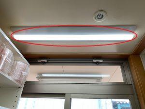 名古屋市中川区の店舗オフィスにてベースライト取替電気工事